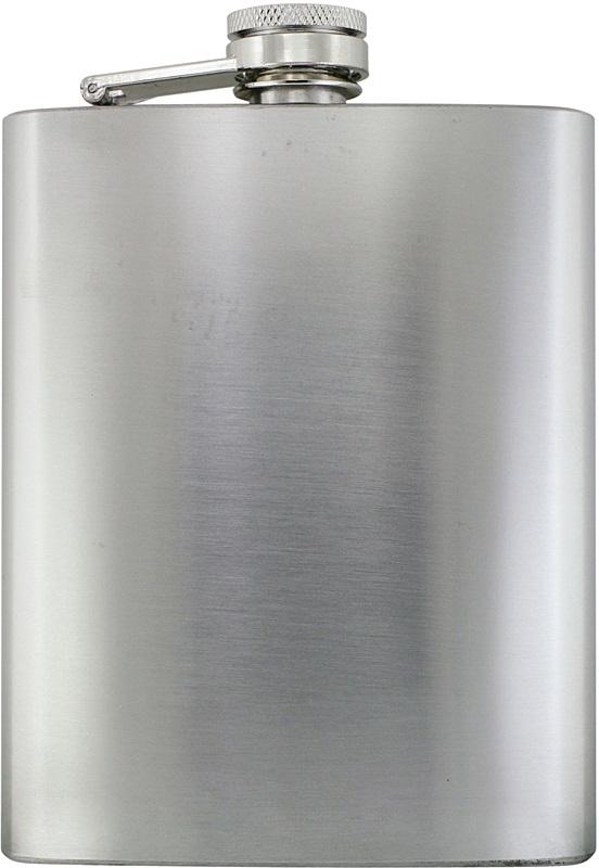 Butylka s matným stříbrným povrchem, 238ml