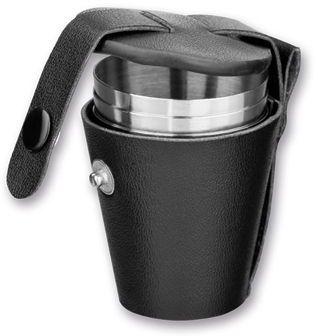 CUP SET III sada nerezových pohárků v pouzdře, 4x25 ml, chrom