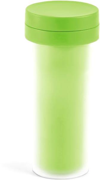 Cestovní hrníček světle zelený s potiskem