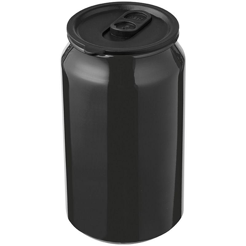 Kovový termo hrnek černý
