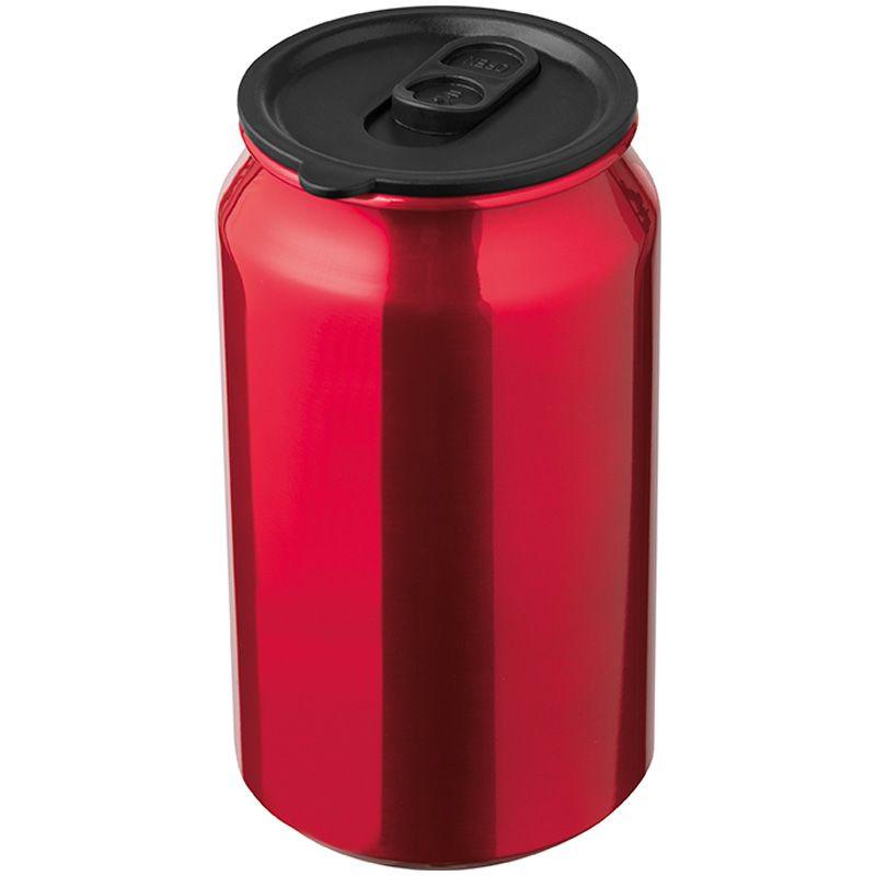 Kovový termo hrnek červený