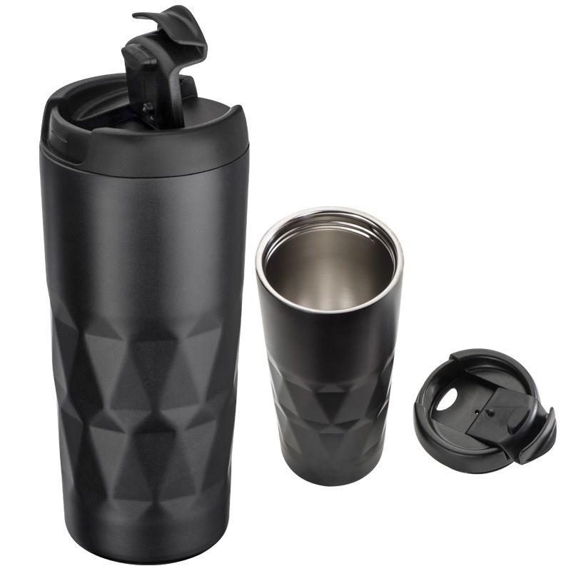 Kovový termohrnek černý