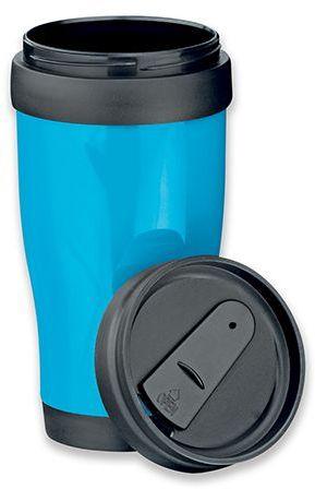 MARIO plastový termohrnek s dvojitou stěnou, 400 ml, modrá