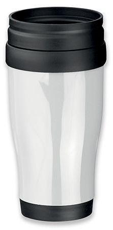 MARIO plastový termohrnek s dvojitou stěnou, 400 ml, bílá