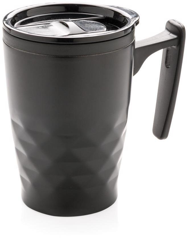 Hrnek na kávu sgeometrickým vzorem