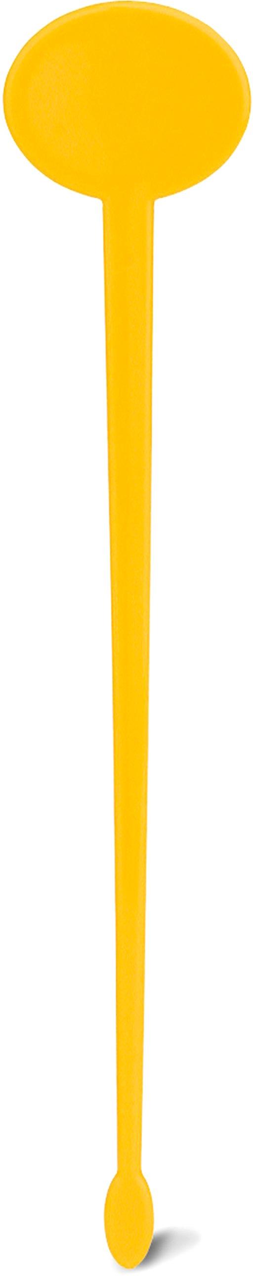 Koktejlové míchadlo žluté