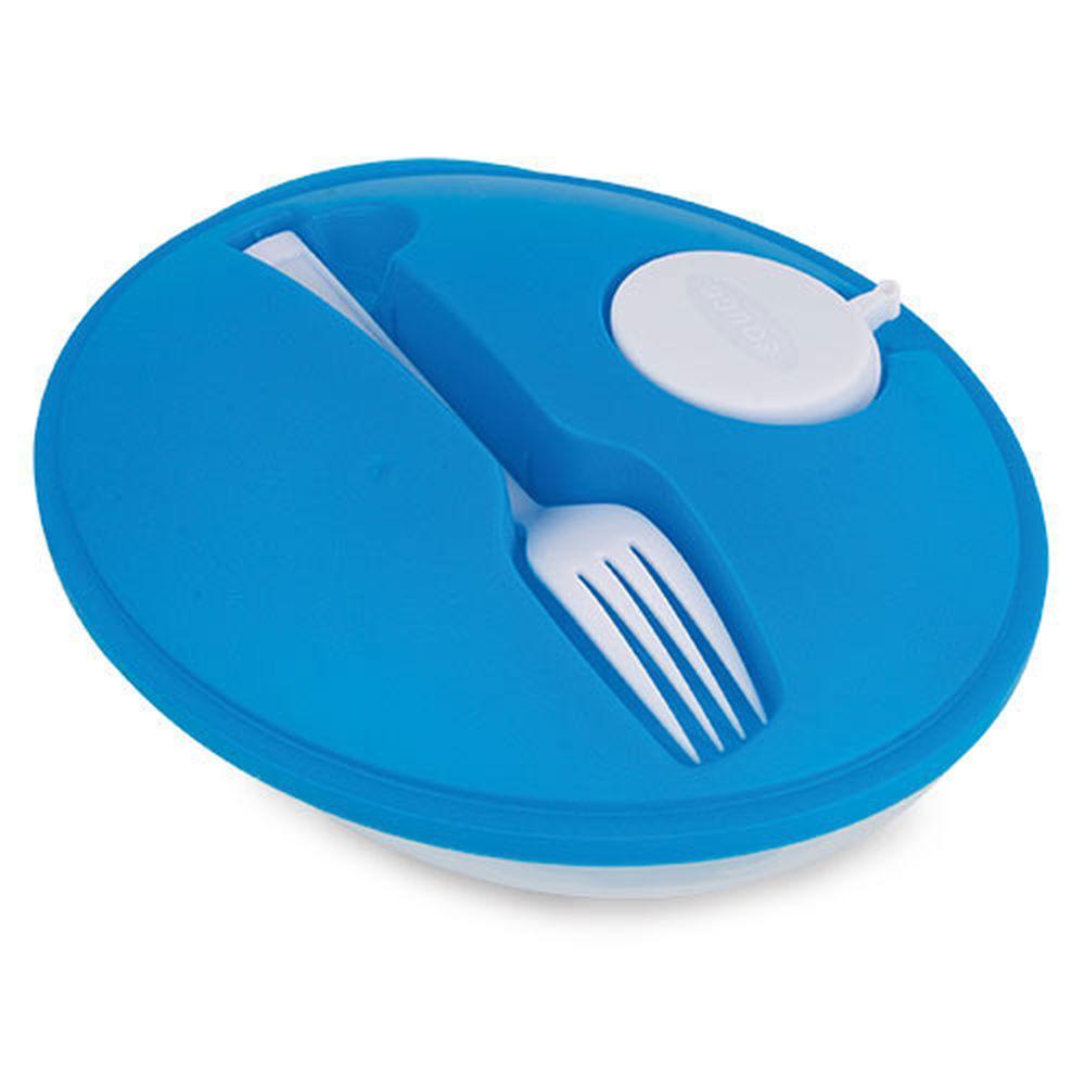 Oválná salátová krabička modrá