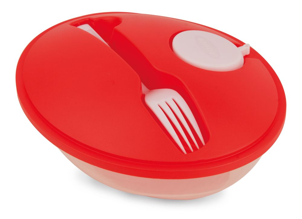 Oválná salátová krabička červená