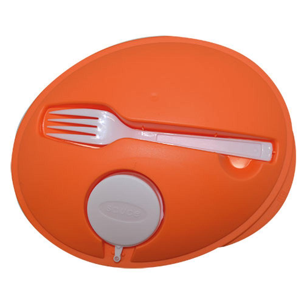 Oválná salátová krabička oranžová