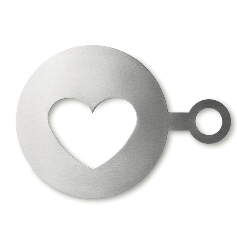 Šablona na kávu ve tvaru srdce