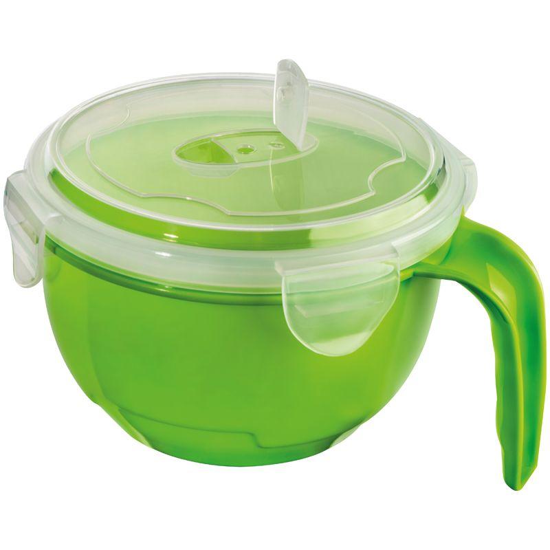 Miska s vrškem světle zelená s potiskem