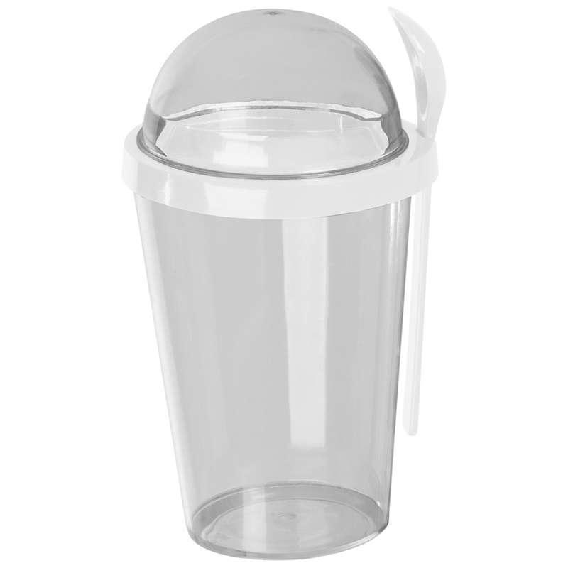 Plastový jogurtový pohár s lžičkou