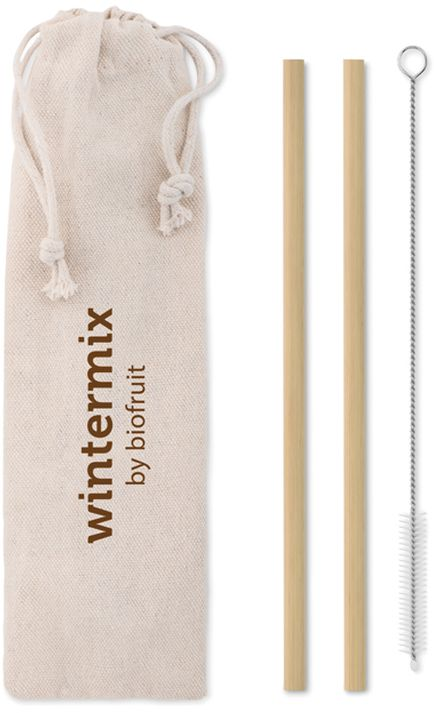 Natural straw Bambusové brčko s kartáčkem