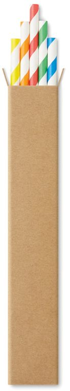 Paper straw Papírová brčka, 10ks
