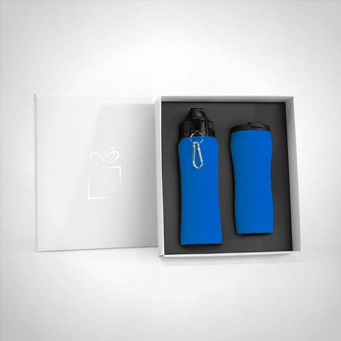 Souprava: cestovní láhev a termický hrníček colorissimo