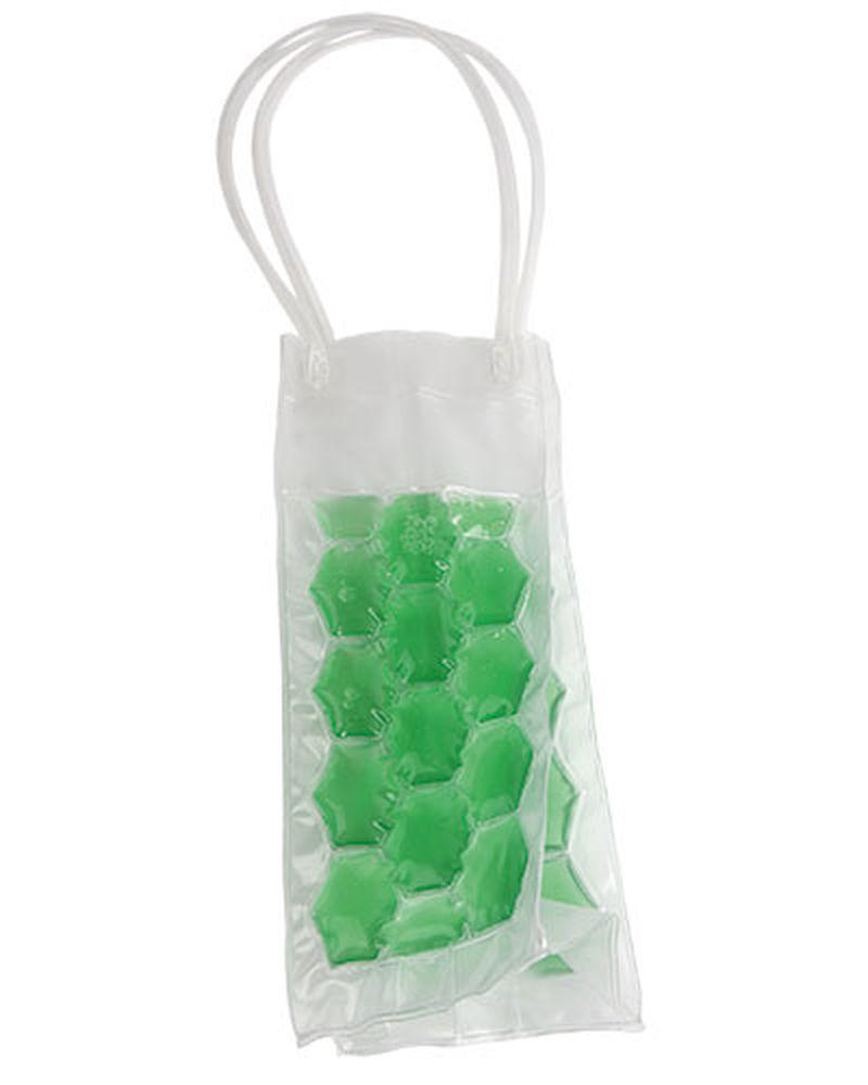 Chladící dárková taška na láhev zelená
