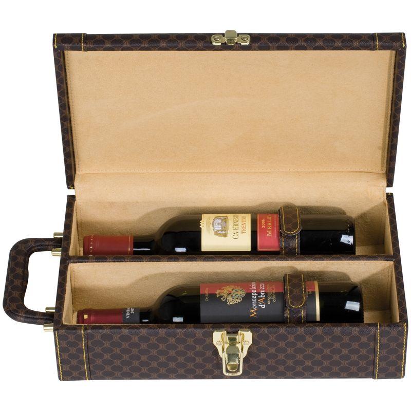 Kufřík na víno s potiskem