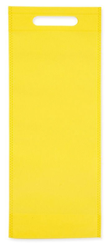Netkaná taška na víno žlutá