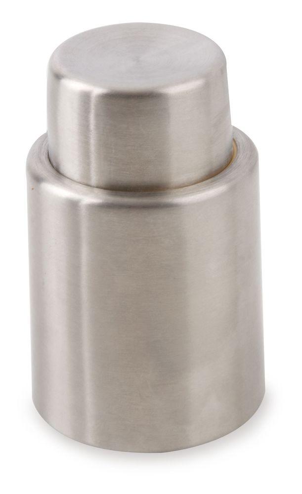 Kovová vakuová pumpa na láhve stříbrná