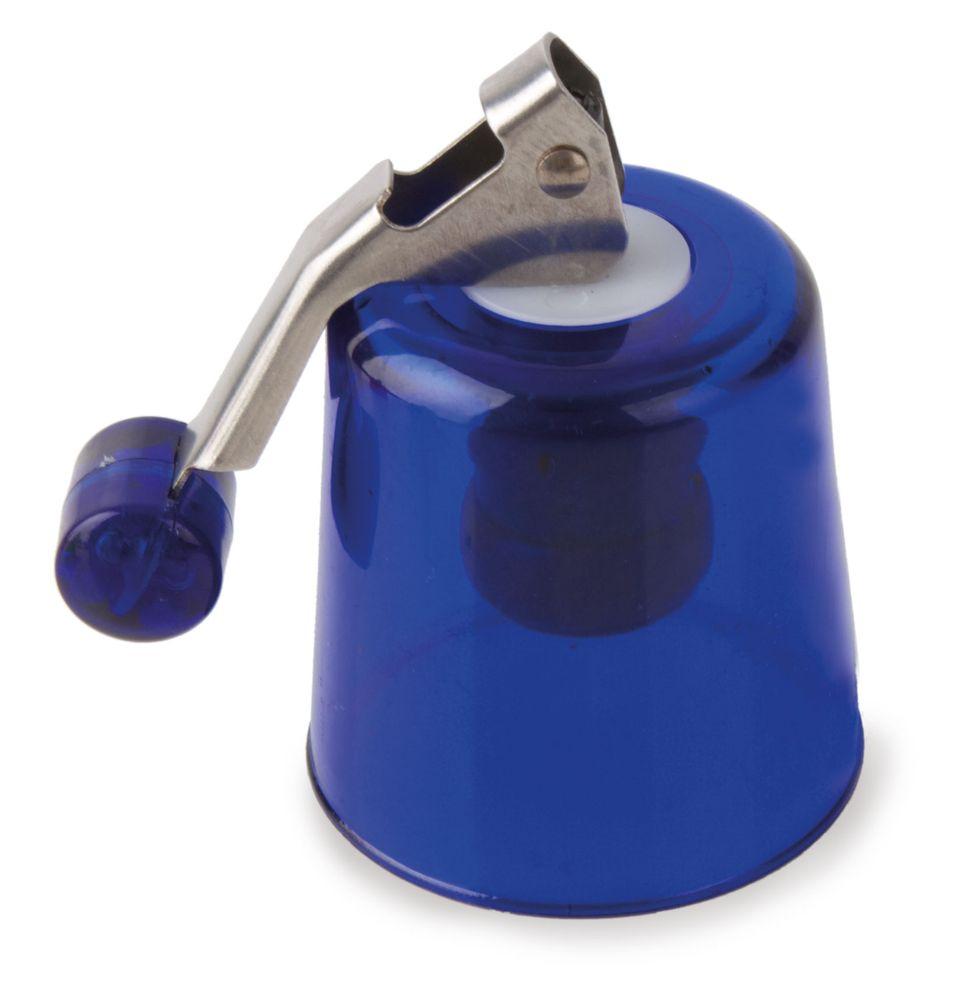 Plastová zátka na víno modrá
