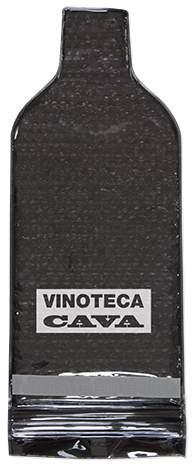 Uzavíratelný ochranný sáček na lahve, černá