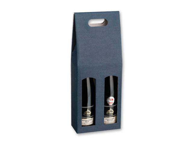 DOUBLE BOX dárková krabice na 2 láhve vína