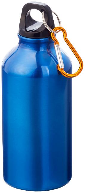 Modrá láhev na pití s karabinou