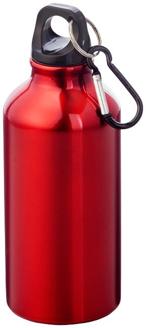 Červená láhev na pití s karabinou