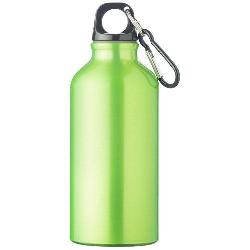 Zelená láhev na pití s karabinou