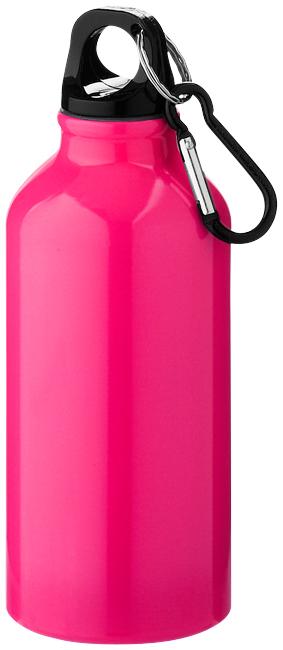 Růžová láhev na pití s karabinou