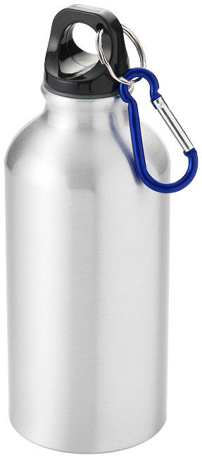 Stříbrná láhev na pití s karabinou