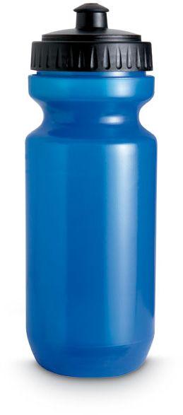 Plastová modrá láhev na pití průhledná