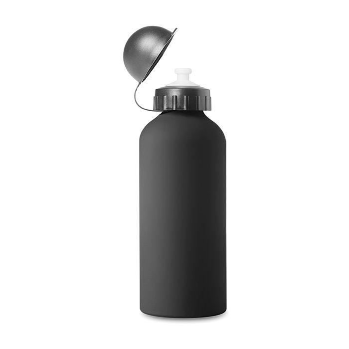 Černá hliníková láhev s potiskem
