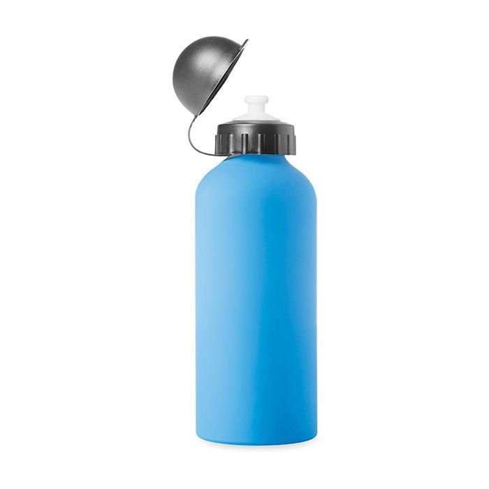 Modrá hliníková láhev