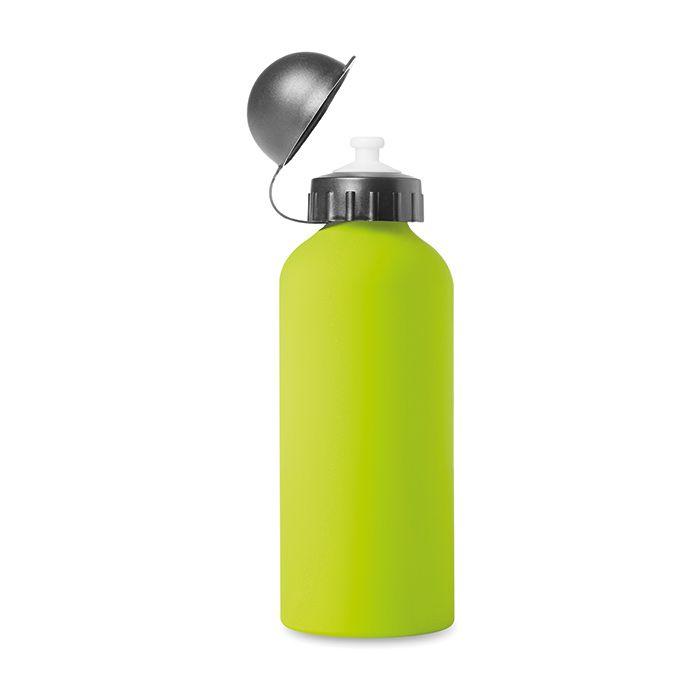 Zelená hliníková láhev