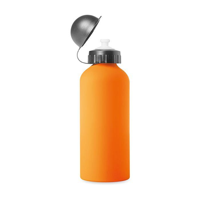 Oranžová hliníková láhev