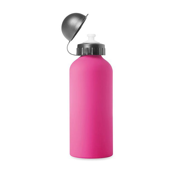 Růžová hliníková láhev