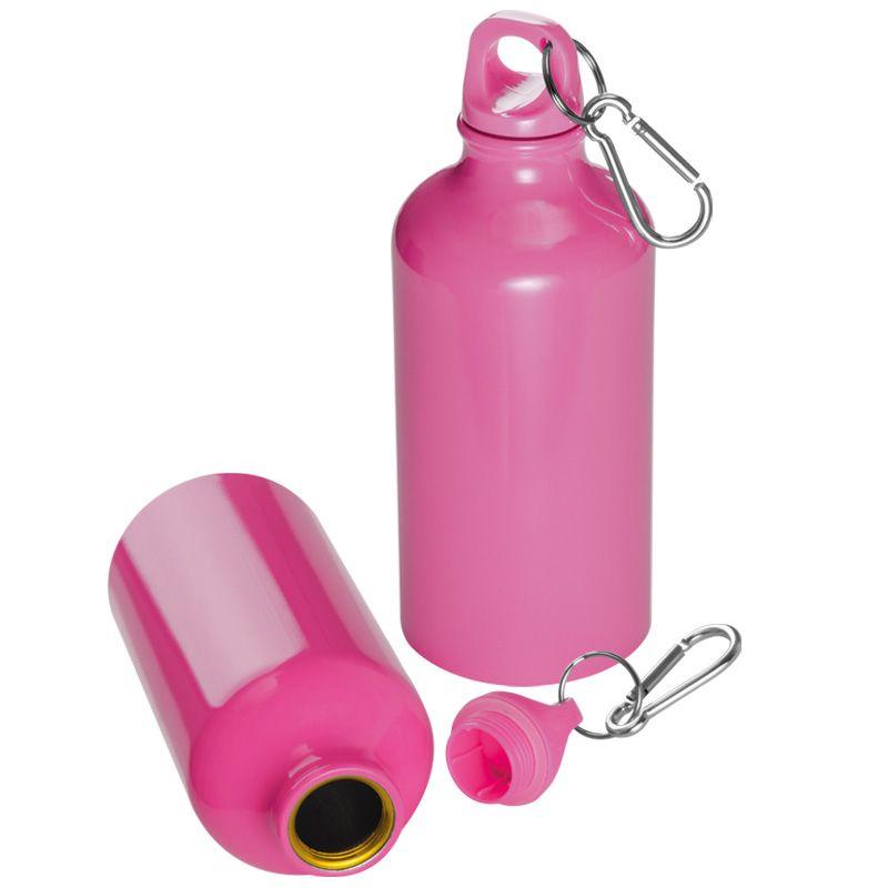 Kovová láhev růžová
