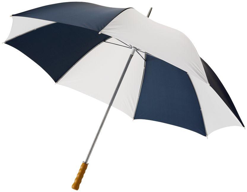 Golfový deštník 30 s dřevěnou rukojetí bílo-modrý