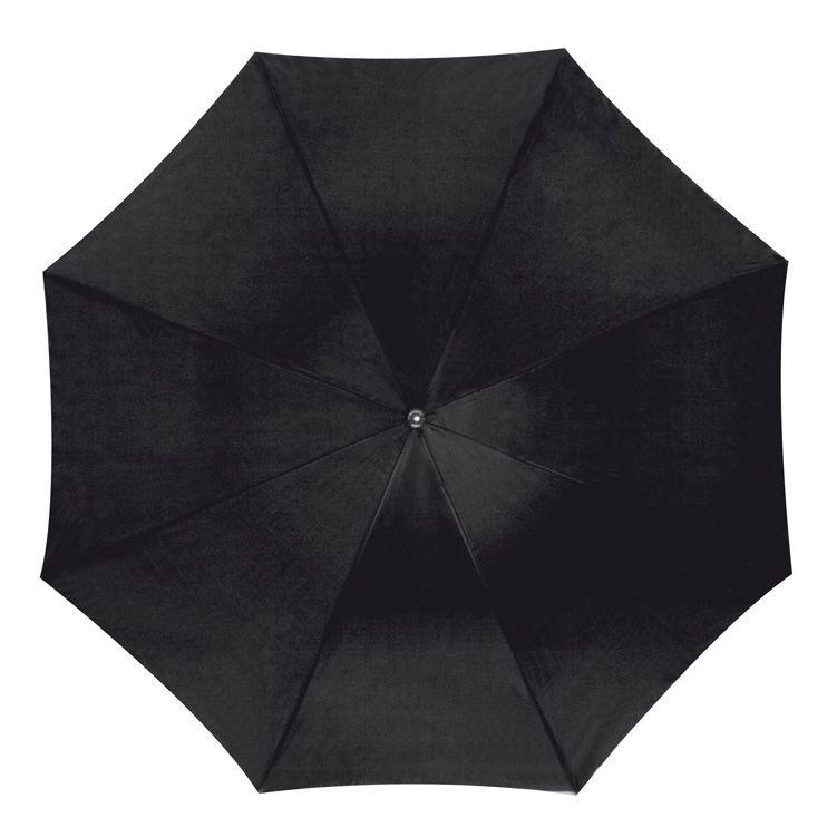 Vystřelovací černý holový deštník