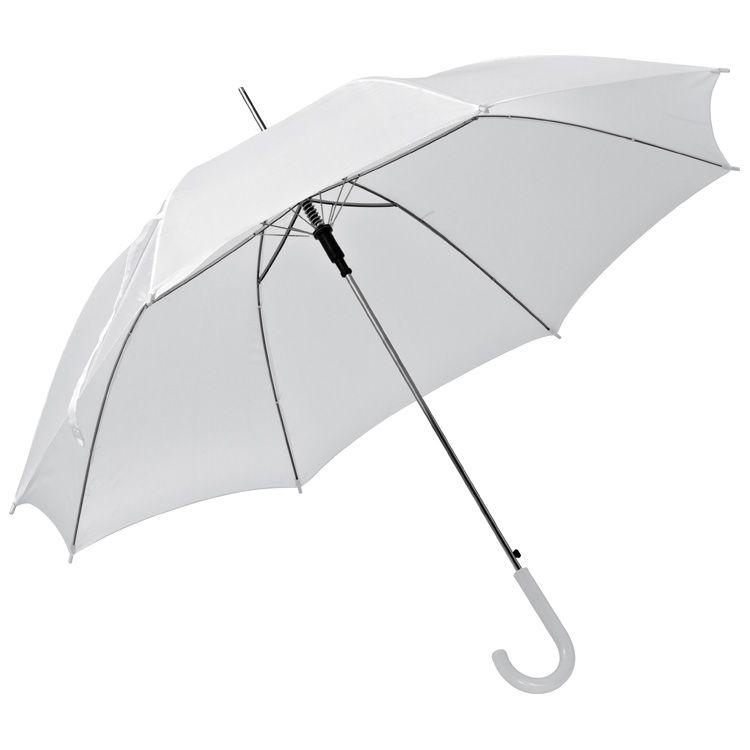 Bílý automatický deštník