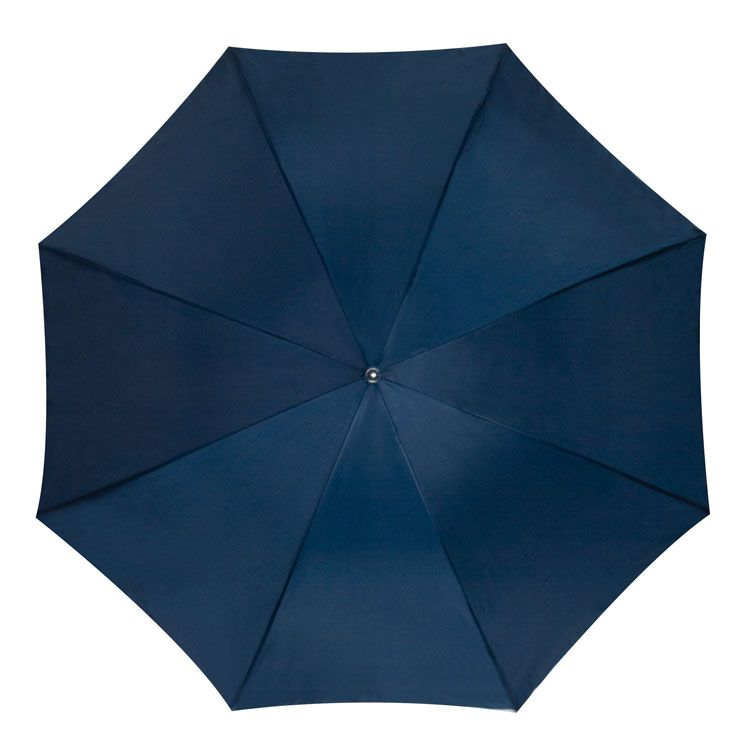 Tamvě modrý vystřelovací deštník
