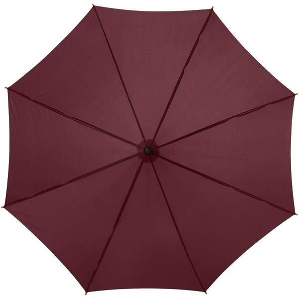 Hnědý dřevěný vystřelovací deštník