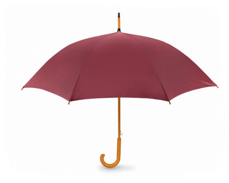 Vínový dřevěný vystřelovací deštník s potiskem