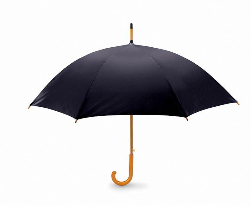 Klasický černý automatický deštník 23 palců