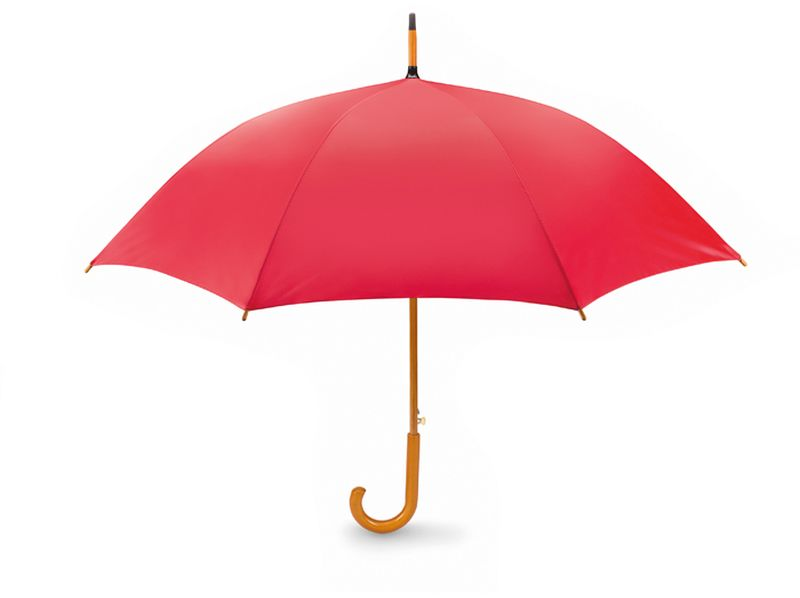 Klasický automatický deštník 23 palců červený