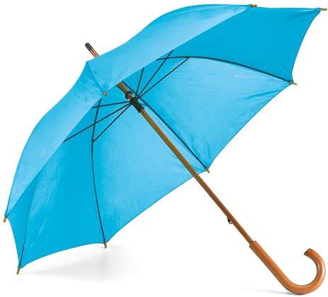 Děštník světle modrý