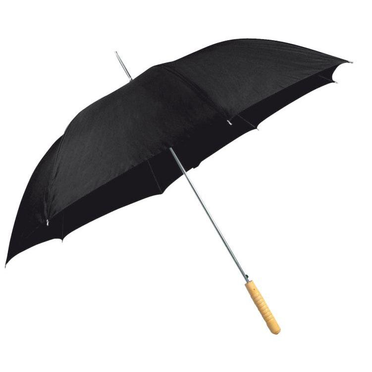 Černý automatický deštník
