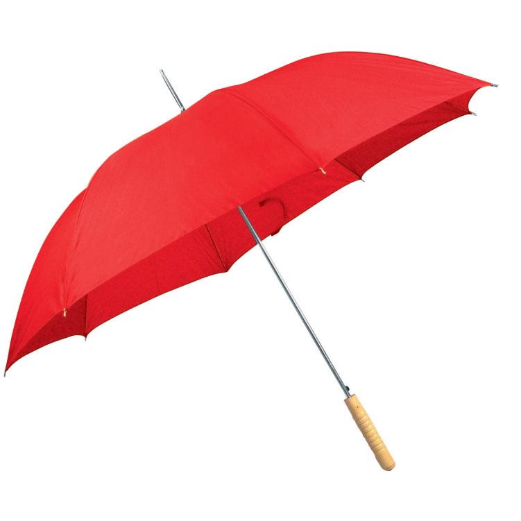 Červený automatický deštník