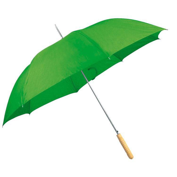 Zelený automatický deštník